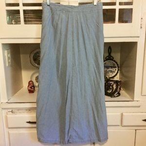 1990s Vintage Denim Maxi Skirt-Size 10
